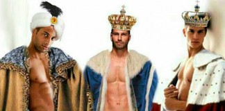 reyes magos, sexys, hombres,
