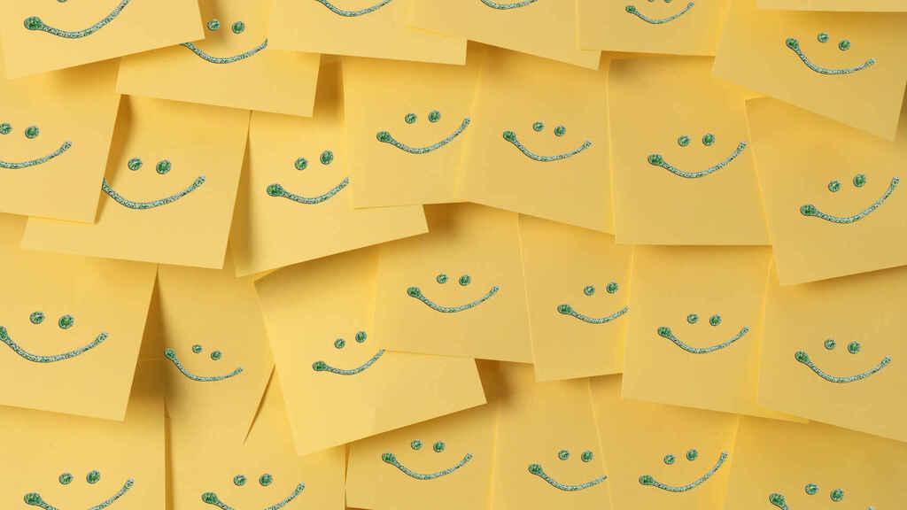 posits con caritas sonrientes